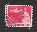Sellos de America - Estados Unidos -  C64 - Avión