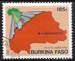 Sellos del Mundo : Africa : Burkina_Faso : Mapa de Burkina Faso