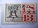 Stamps United States -  Campana de la Libertad - Deja a la Libertad Sonar - Correo del 1952/67