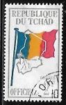 Sellos de Africa - Chad -  Bandera de Chad