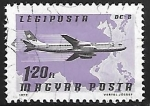 Stamps Hungary -  DC 8, Swiss-air