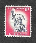 Sellos de America - Estados Unidos -  1044A - Estatua de la Libertad