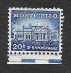 Stamps United States -  Monticello