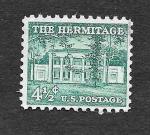 Stamps United States -  1037 - El Hermitage