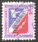Stamps : America : Dominican_Republic :  43 - Pro Escuela Postal y Telegráfica