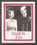 Stamps Oceania - Samoa -  607 - 60 Anivº de S.M. Elizabeth II