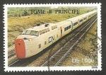 Sellos de Africa - Santo Tomé y Principe -  Tren