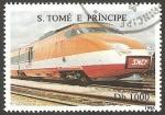 Stamps São Tomé and Príncipe -  Tren
