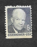 Sellos de America - Estados Unidos -  1393 - Dwight David Eisenhower