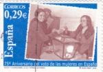 Stamps : Europe : Spain :  75º ANIVERSARIO DEL VOTO DE LAS MUJERES EN ESPAÑA (35)