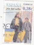 Stamps Spain -  DIA DEL SELLO- EL CARTERO  (35)