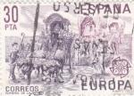 Sellos de Europa - España -  EUROPA CEPT- romería de la virgen del rocio (35)