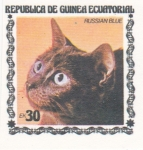 Stamps : Africa : Equatorial_Guinea :  GATO RUSSIAN BLUE