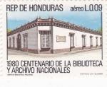 Sellos del Mundo : America : Honduras :  EDIFICIO BIBLIOTECA NACIONAL