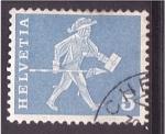Stamps Switzerland -  Mensajero a pie
