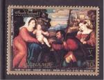 Stamps United Arab Emirates -  madonna con niño
