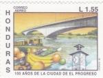 Sellos del Mundo : America : Honduras :  100 AÑOS DE LA CIUDAD DE EL PROGRESO