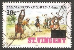 Stamps : America : Saint_Vincent_and_the_Grenadines :  150 Anivº de la abolición de la esclavitud