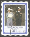 Sellos del Mundo : Africa : Seychelles : Zil Elwannyen Sesel - 128 - 60 Anivº de S. M.  Elizabeth II