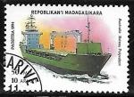 Sellos del Mundo : Africa : Madagascar : Barco de carga