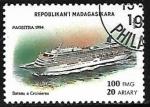 Sellos de Africa - Madagascar -  Barco de linea
