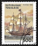 Sellos del Mundo : Africa : Togo : 17th century English ship