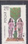 Sellos de Europa - Polonia -  ADAN Y EVA
