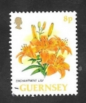Stamps : Europe : United_Kingdom :  Guernsey 609 - Flor enchantment lily