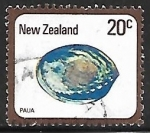 Sellos de Oceania - Nueva Zelanda -  Paua - concha marina