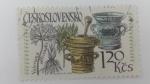 sellos de Europa - Checoslovaquia -  Flor Medicinal