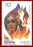 Stamps : Europe : Spain :  Edifil 3542 Europa Fogueres de Sant Joan 70 NUEVO