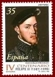 Stamps : Europe : Spain :  Edifil 3548 Centenario muerte Felipe II 35 NUEVO