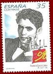 Stamps : Europe : Spain :  Edifil 3549 Federico García Lorca 35 NUEVO