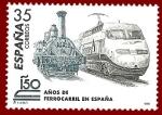 Sellos del Mundo : Europa : España : Edifil 3591 Locomotra de Mataró y Euromed 35 NUEVO