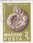 Stamps : Asia : India :  CONCHA FÓSIL DE AMONITES