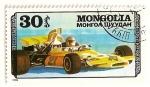 Sellos de Asia - Mongolia -  Automoviles competicion. Ford Mc Laren.
