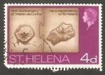 Sellos del Mundo : Europa : Reino_Unido : St. Helena - 187 - Mapas de Tristan de Cunha y St. Helena