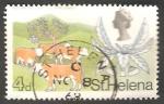 Sellos del Mundo : Europa : Reino_Unido : St. Helena - 200 - Elizabeth II, ganado