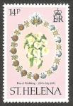 Sellos del Mundo : Europa : Reino_Unido : St. Helena - 340 - Ramo de flores