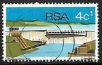 Stamps : Africa : South_Africa :  Represa H.F. Verwoerd