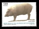 Stamps Africa - Equatorial Guinea -  Animales domésticos - Cerdo Ibérico