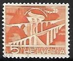 Sellos del Mundo : Europa : Suiza : Sitter Bridges near St. Gallen