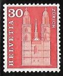 Stamps : Europe : Switzerland :  Grossmunster en Zurich