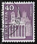 Stamps : Europe : Switzerland :  Catedral de St. Pierre  - Ginebra