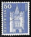 Stamps : Europe : Switzerland :  Spalen Gate, Basel