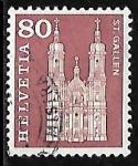 Stamps : Europe : Switzerland :  Catedral de St. Gallen