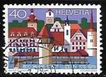 Stamps : Europe : Switzerland :  Lugar de interés - Lucerna