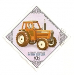 Stamps Mongolia -  Tractores. Iseki 6500 Japon.