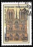 Sellos del Mundo : Africa : Madagascar : Paris, Notre-Dame