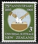 Stamps : Oceania : New_Zealand :  Voto universal